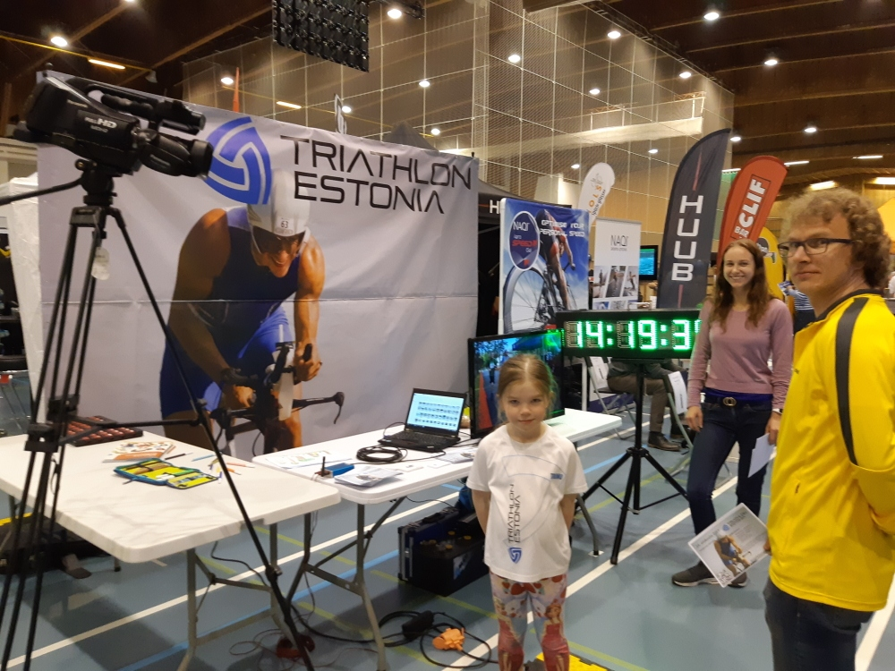 Triathlon Estonia lipp Soomes triatlonimessil