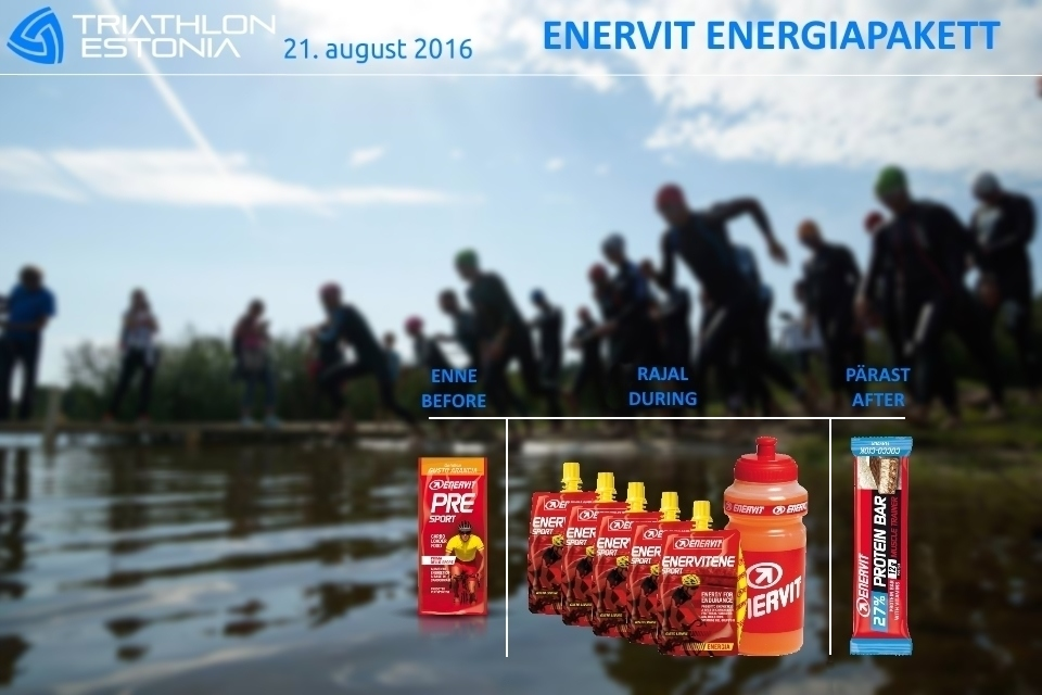 Enervit energy package only for participants!